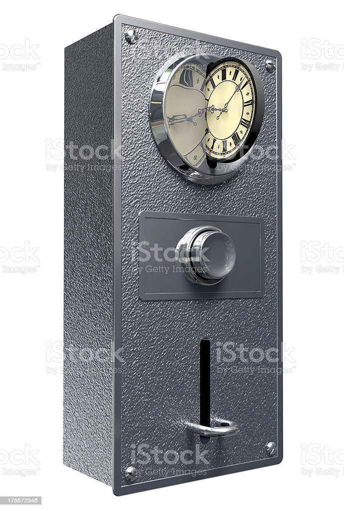 Time Is Money Vintage Coin Slot royalty-free stock photo