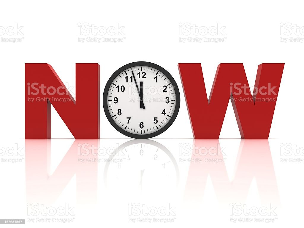 Time is Now stock photo