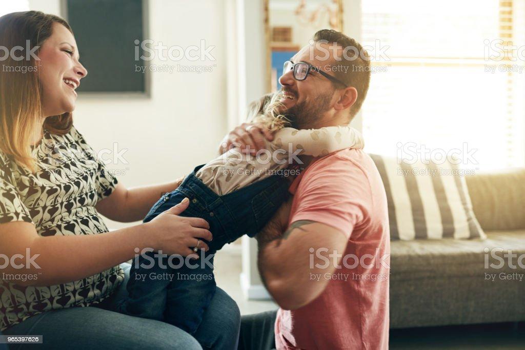 時間是寶貴的, 和你的寶貝一起度過 - 免版稅一起圖庫照片