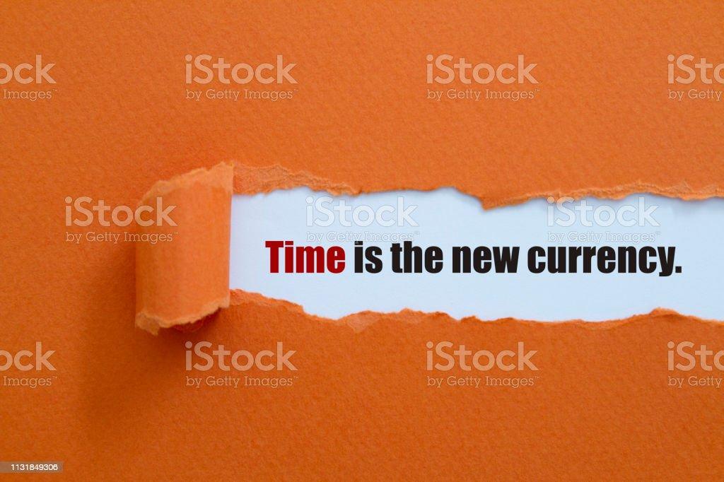 Zaman yeni para birimidir stok fotoğrafı