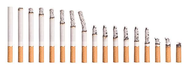 Time lapse - Burning cigarette stock photo