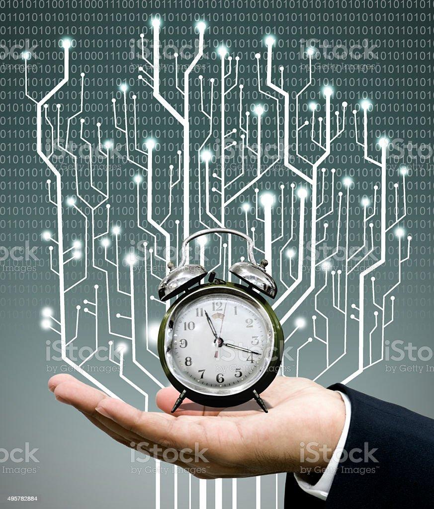 Time machine concept stock photo