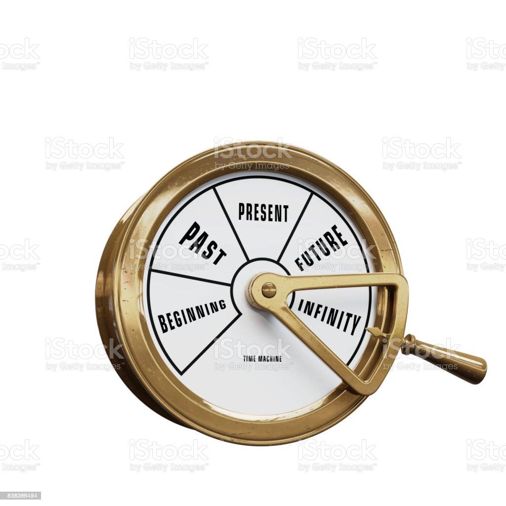 Time machine telegraph going to Infinity stock photo
