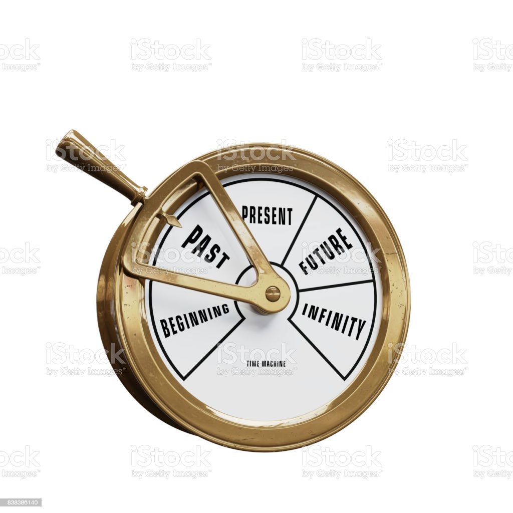 Time machine telegraph going to the Past stock photo