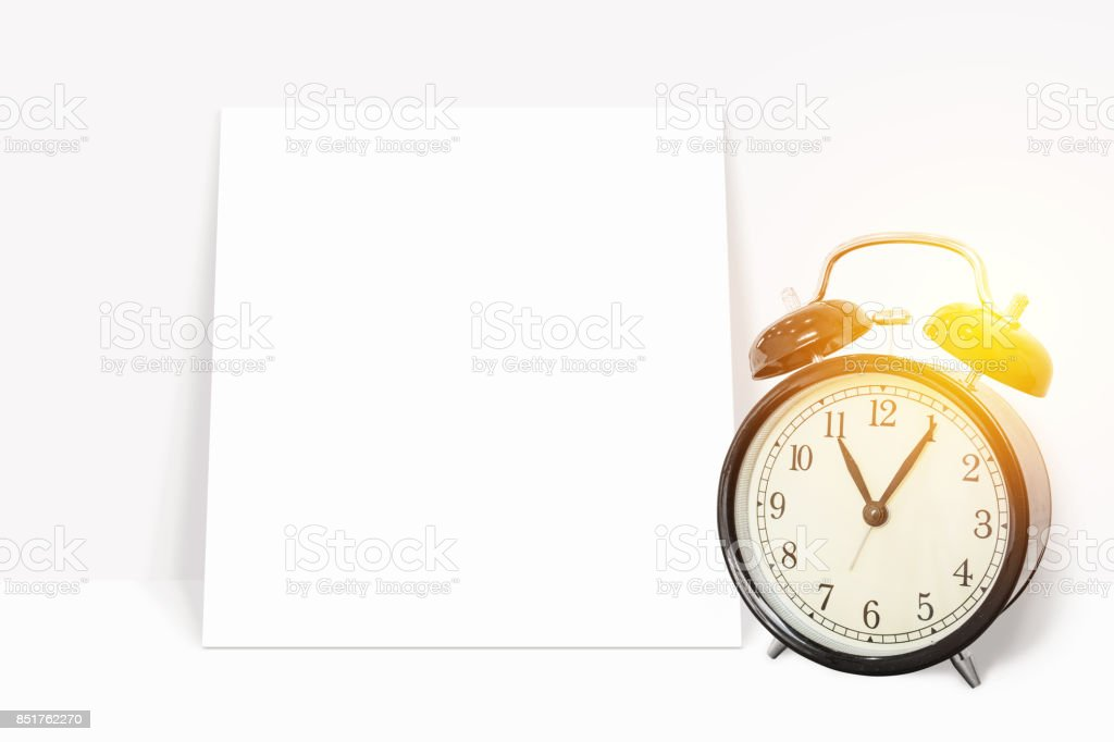 Time Management Concept Analog Vintage Black Clock With