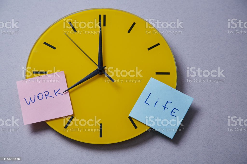 Time management deadline and schedule concept: yellow clock covered...