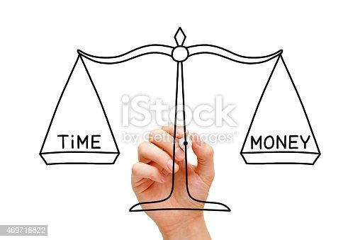 istock Time Money Scale Concept 469716822