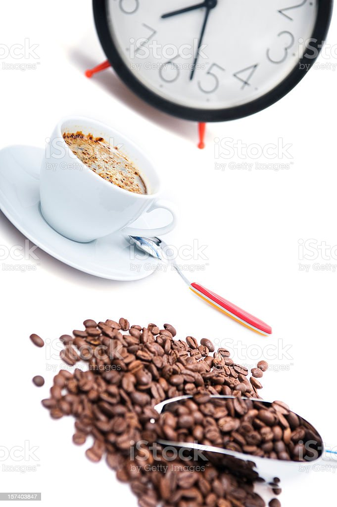 time of coffee royalty-free stock photo