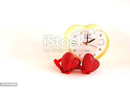 671883446 istock photo Time of love on a white background. 911978594