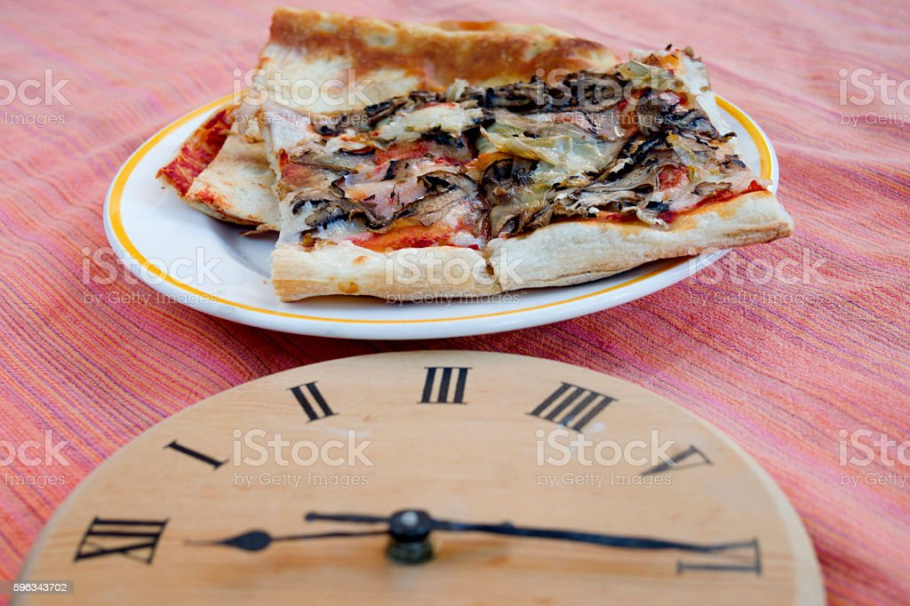 time of pizza express stock photo
