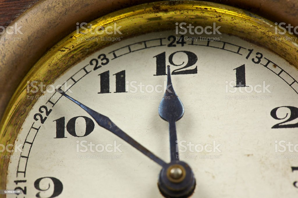 Time / old clock royalty-free stock photo