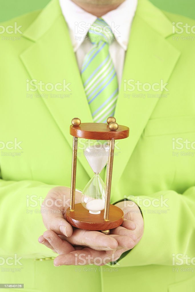 Time on Green royalty-free stock photo