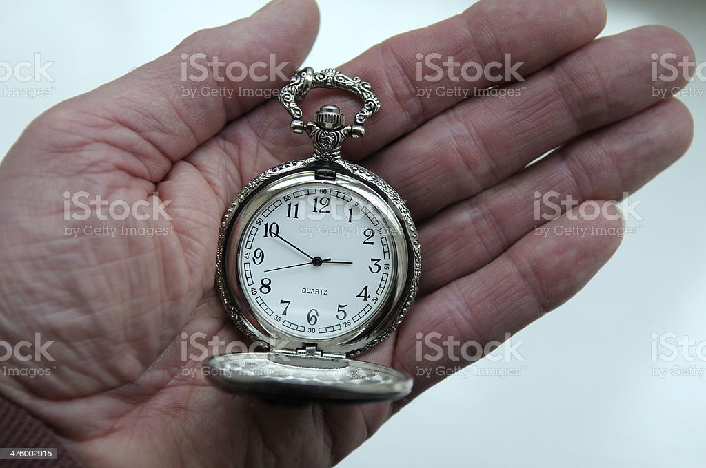 Time on his Hands stock photo