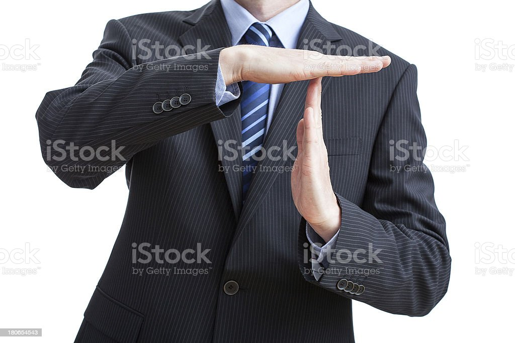 Time out gesture royalty-free stock photo