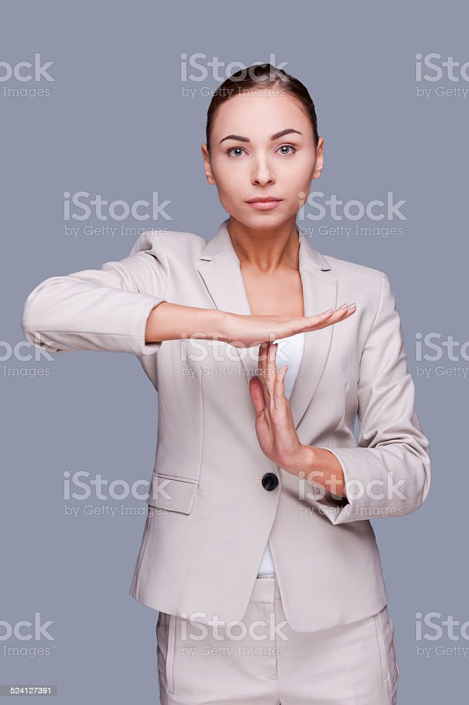 Time out! stock photo