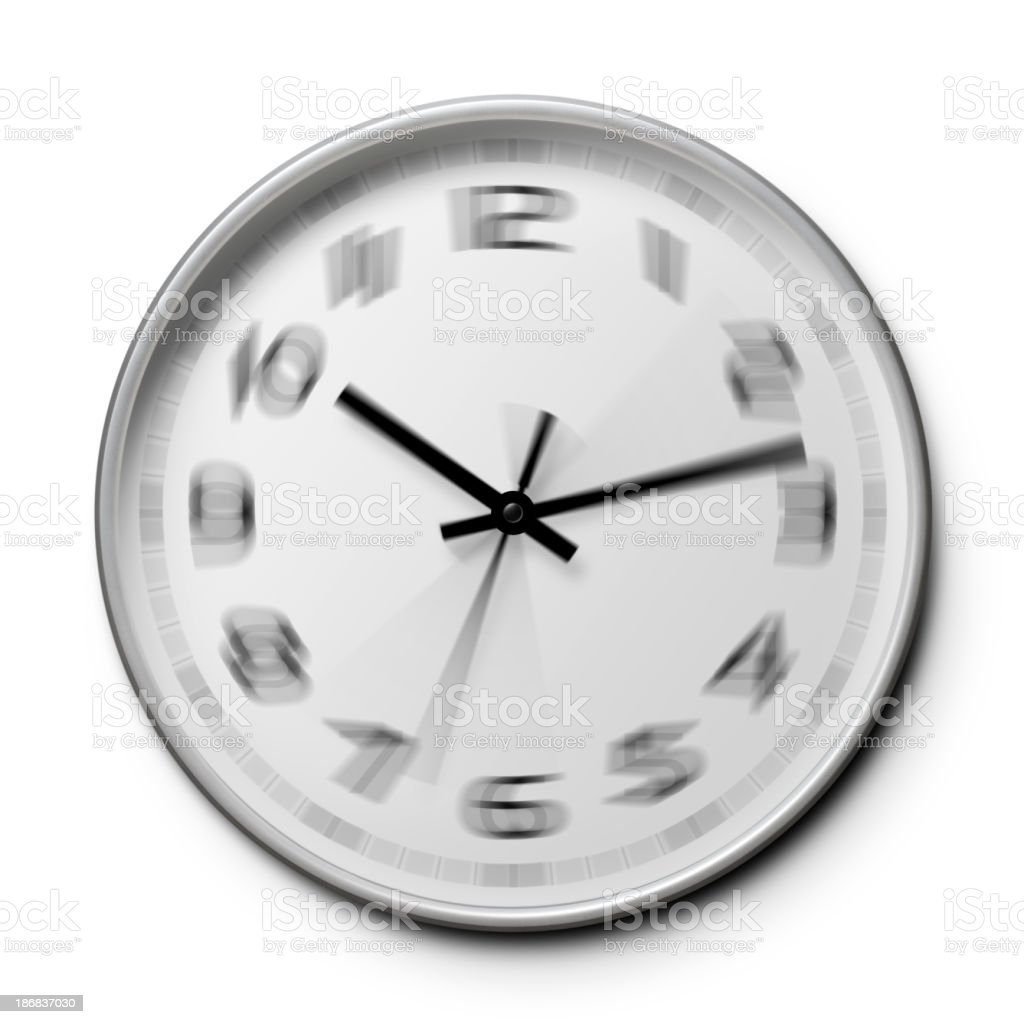 Time passes quickly. Clock. royalty-free stock photo