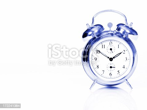 A toned image of a clock