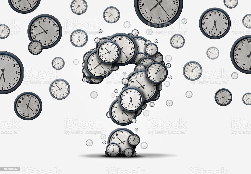 Time Question Concept stock photo
