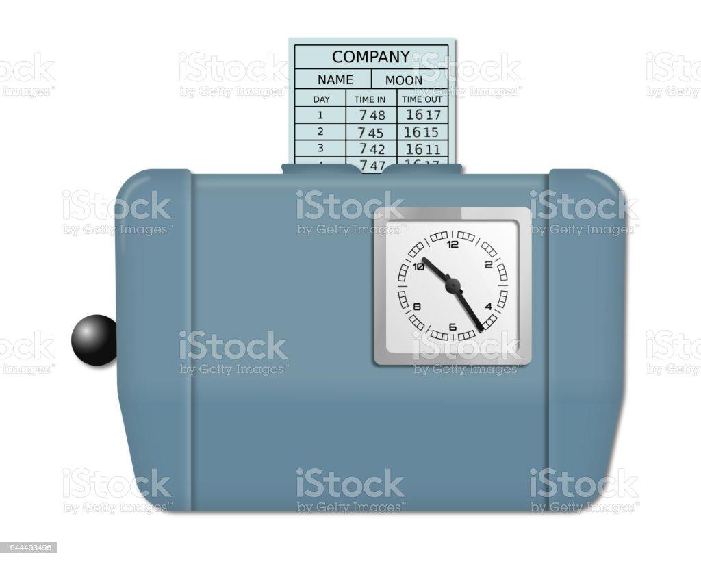 Time recorder machine stock photo
