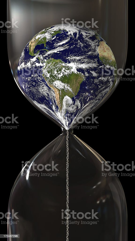Time running out for Earth royalty-free stock photo