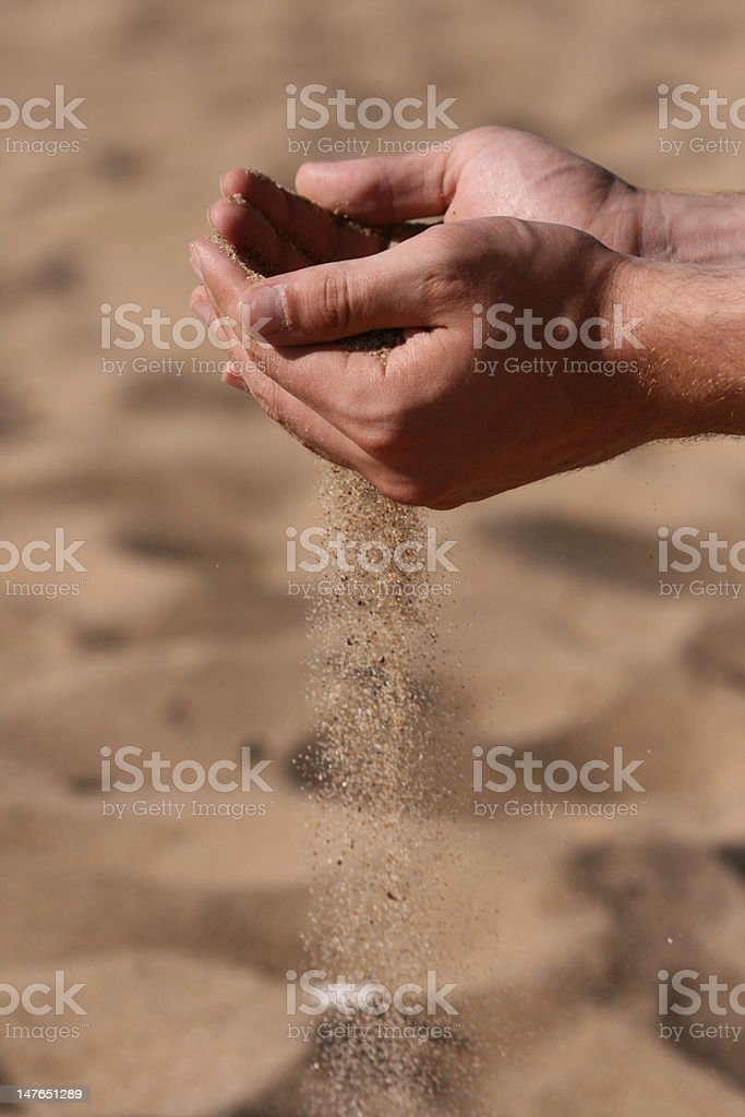 Time sand royalty-free stock photo