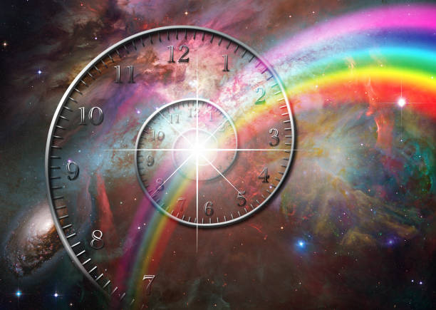 Time space stock photo