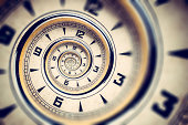 istock Time spiral - Clock Deadline Droste Abstract Shabby Vintage Old 180848888