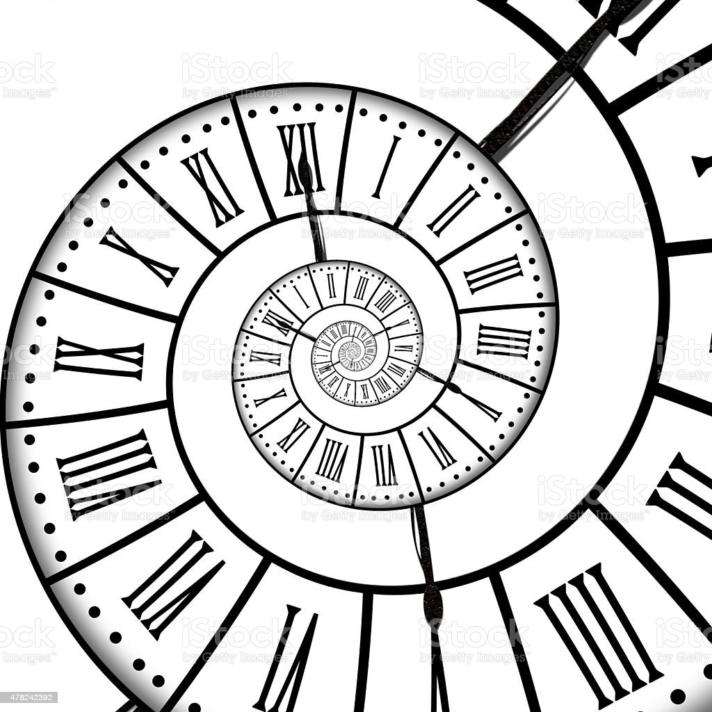 Time Spiral Isolated On White Background Stock Photo