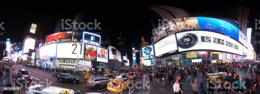 Time Square at night , New York City stock photo