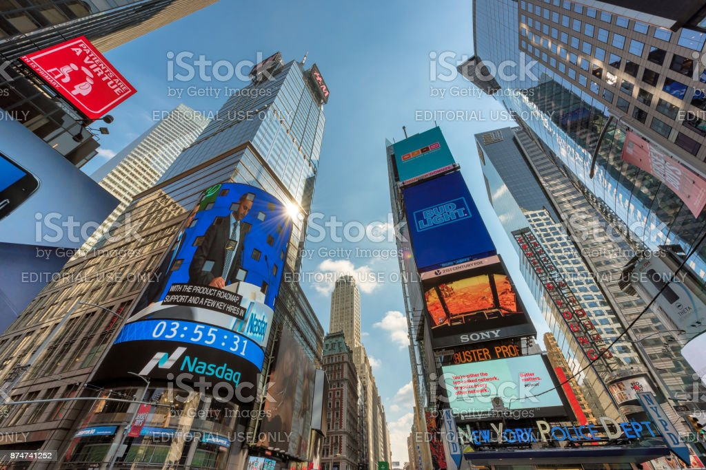Time Square in New York stock photo