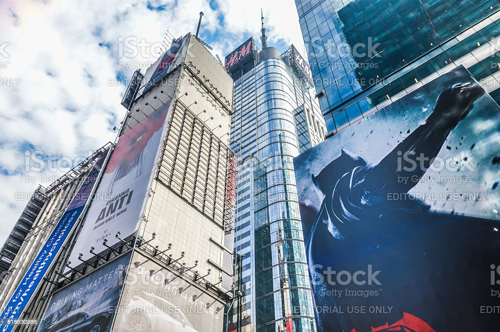 Time Square New York Billboards stock photo