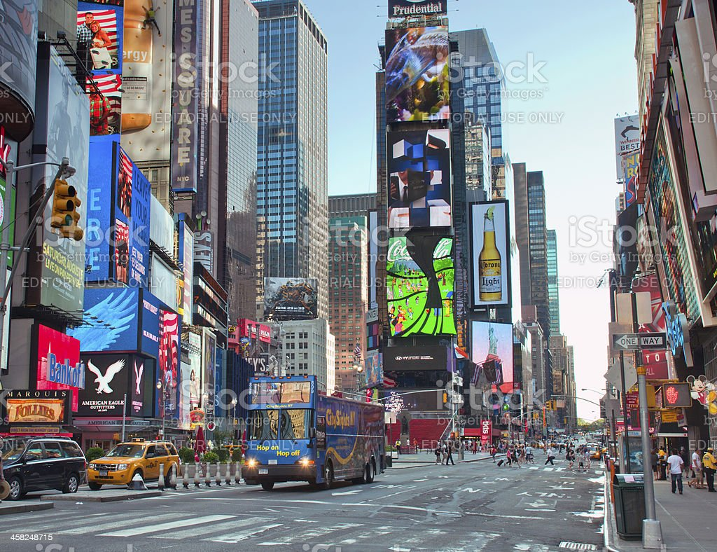 Time square New York City royalty-free stock photo