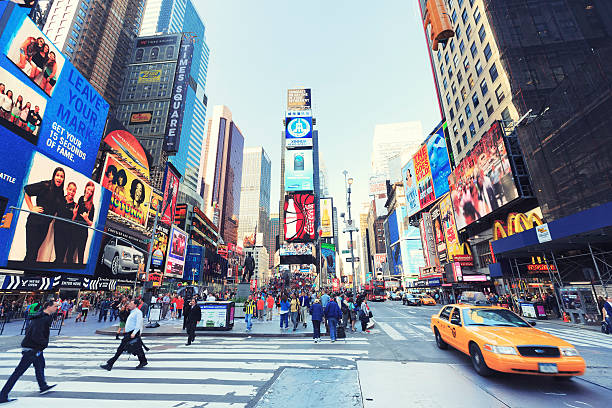 time square, new york city - international landmark stock photos and pictures