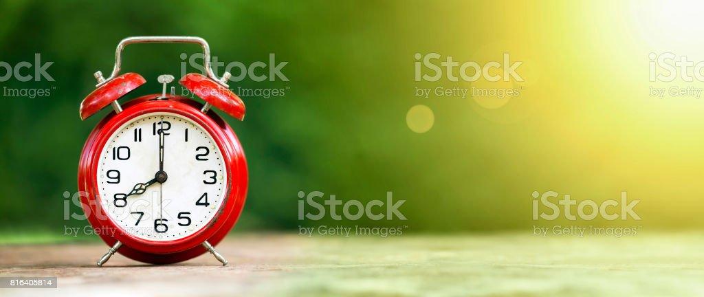 Time, summertime banner stock photo