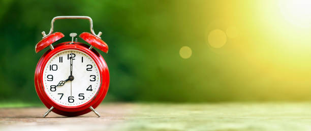 time, summertime banner - timeline visual aid stock photos and pictures