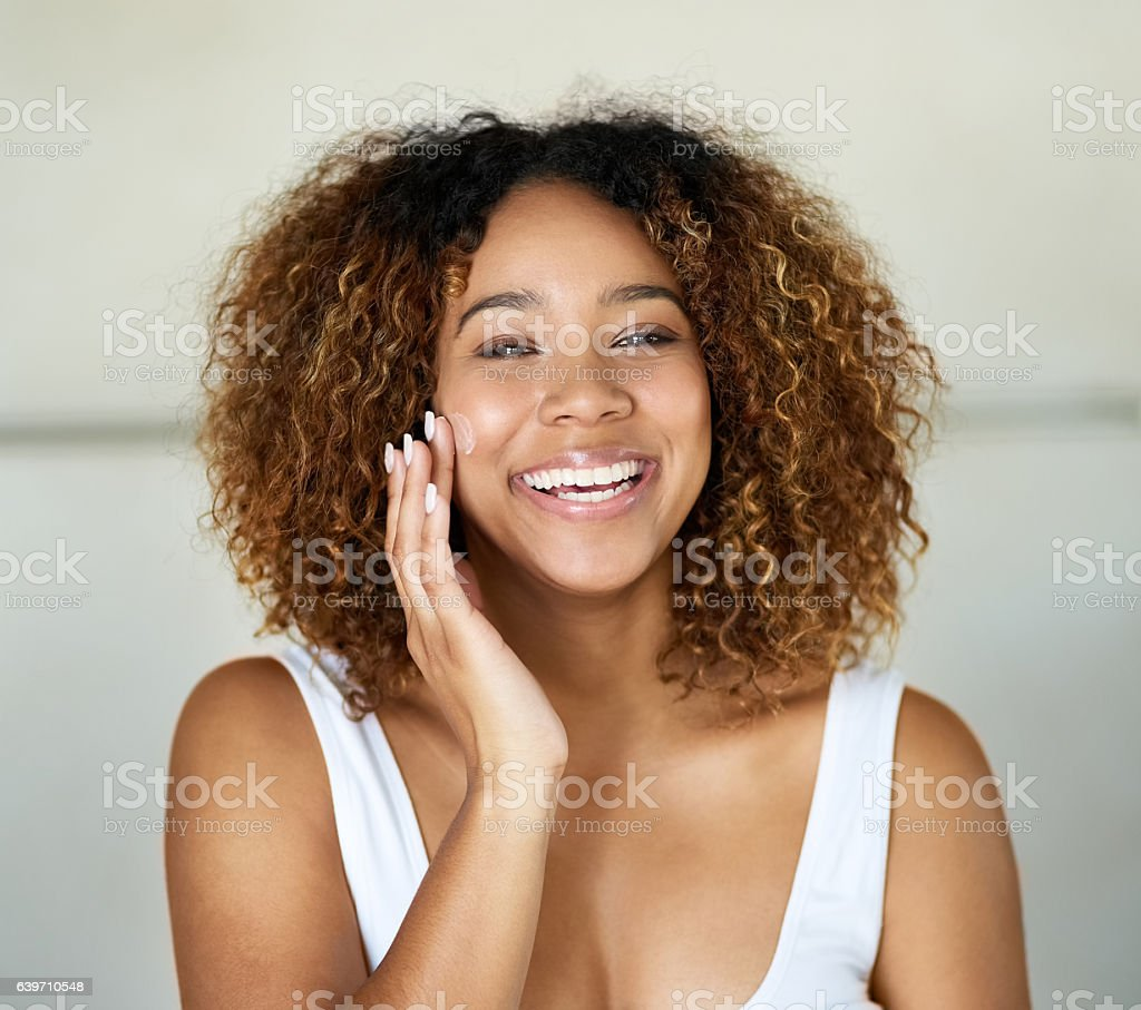 Time to apply my day face stock photo