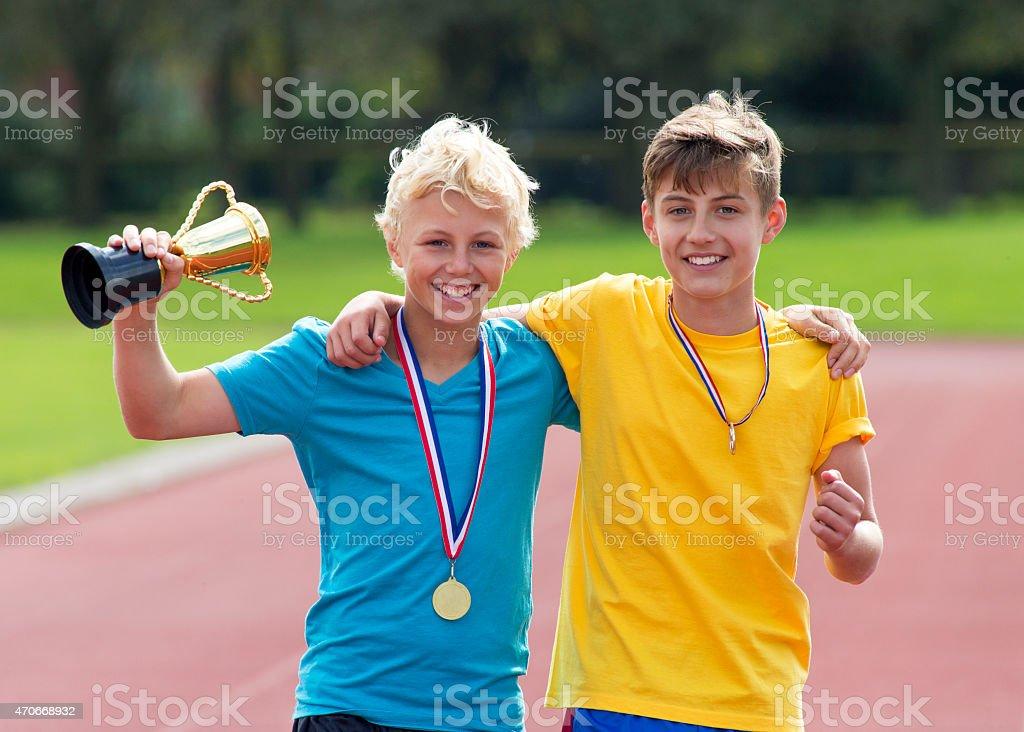 Zeit zum Feiern! - Lizenzfrei Internationales Sportereignis Stock-Foto
