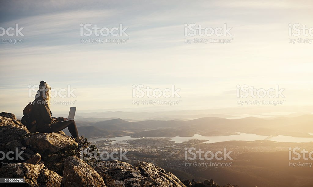 Time to check in... stock photo