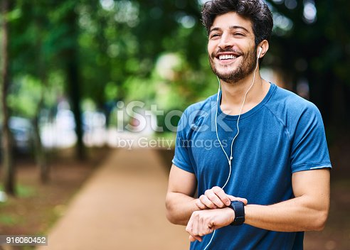 istock Time to clock another personal best 916060452