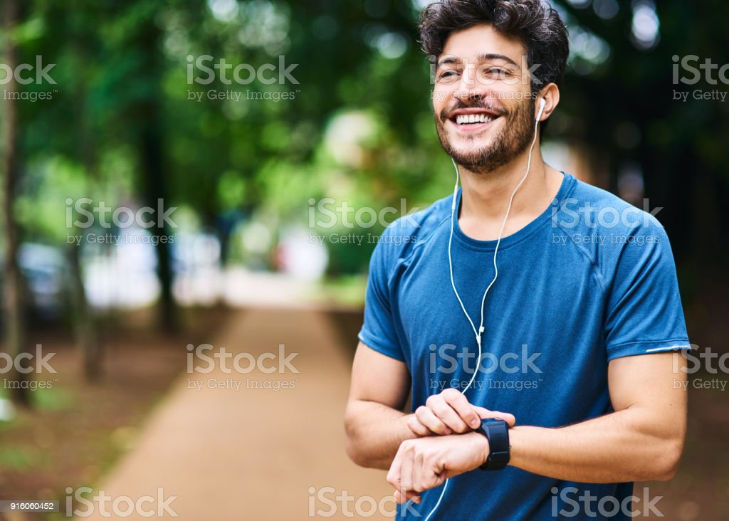 Time to clock another personal best stock photo