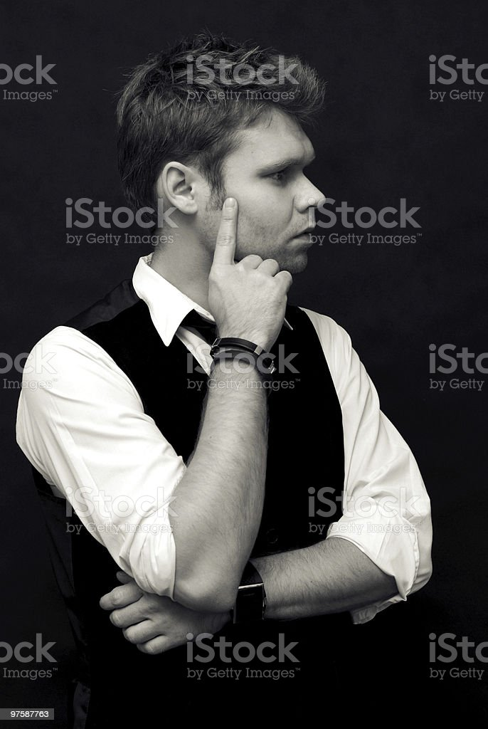 Time to contemplation royalty-free stock photo