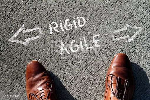 istock Time to decide: Rigid or Agile? 977459262