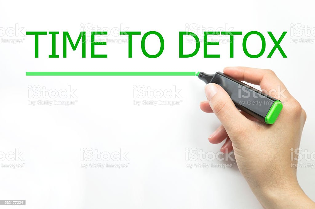 time to detox stock photo