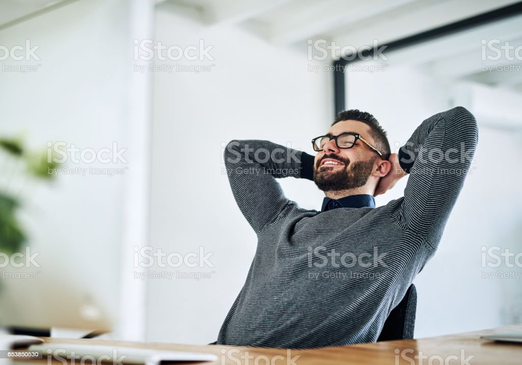 Time to dream about my rewards of hard work stock photo