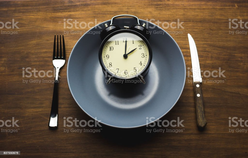 time to eat stock photo