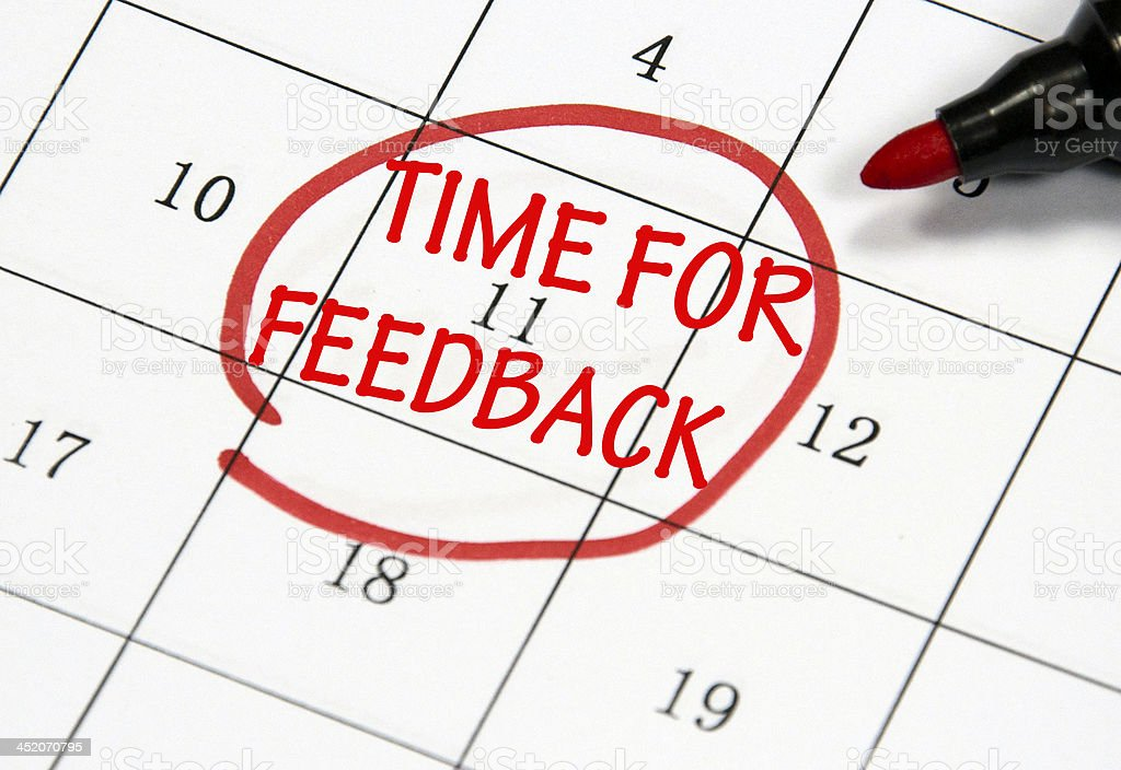 time to feedback date stock photo