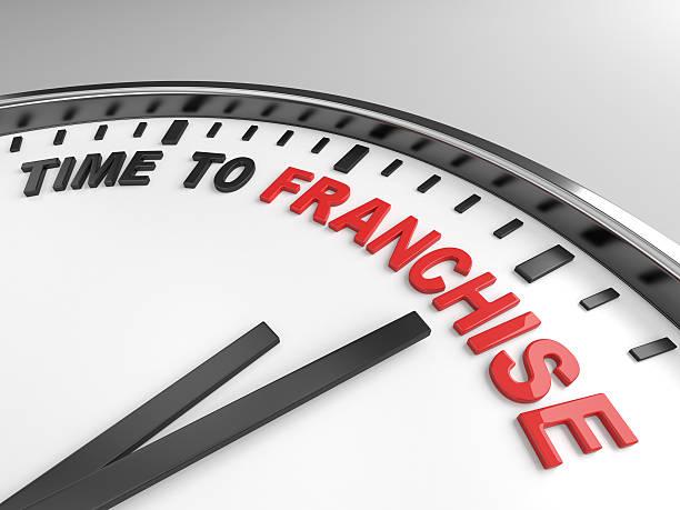 zeit zum franchising - revierverhalten stock-fotos und bilder