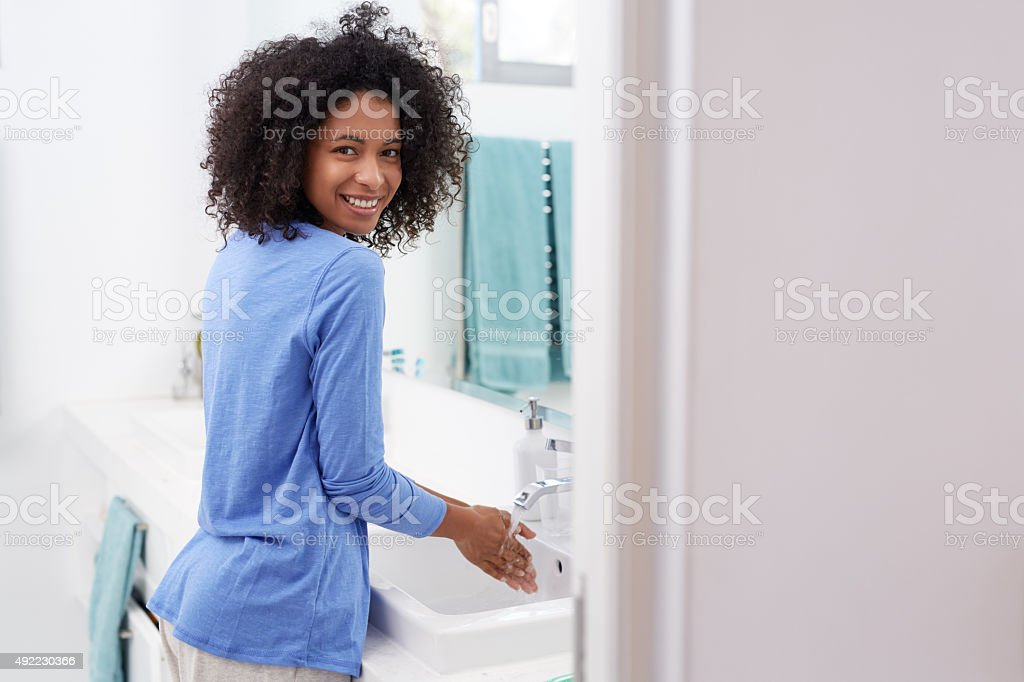 Time to freshen up! stock photo