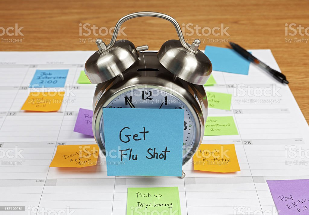Time to Get a Flu Shot royalty-free stock photo