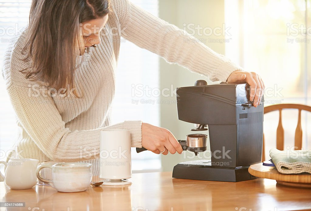 Time to get brewing stock photo